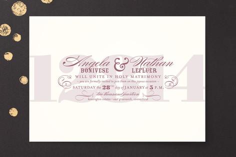 Bold Numerals Wedding Invitations