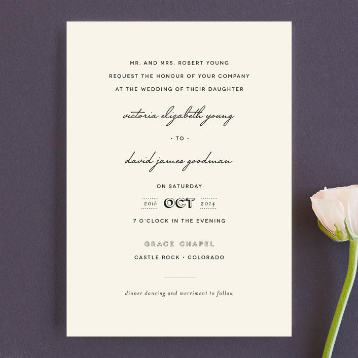 plain jane wedding invitations by design lotus | minted, Wedding invitations