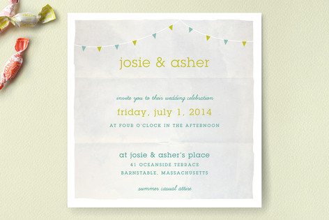 Backyard Tent Watercolor Wedding Invitations
