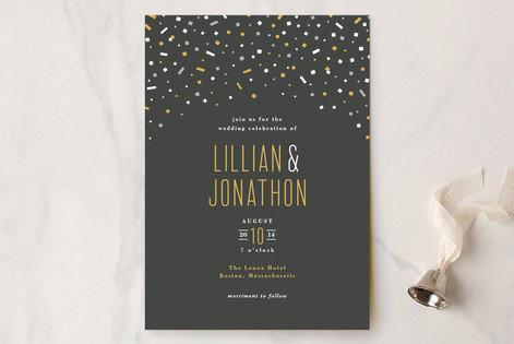 Confetti Toss Wedding Invitations
