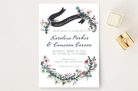 floral hand painted wedding invitations by abbey c | minted, Wedding invitations