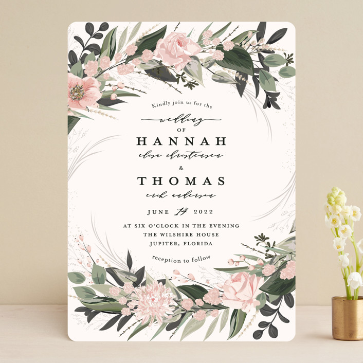 """Ivory Ring"" - Wedding Invitations in Blush by Susan Moyal."