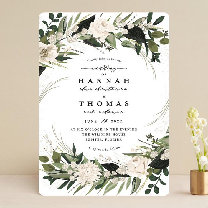 """Ivory Ring"" - Wedding Invitations in Blush by Susan Moyal."