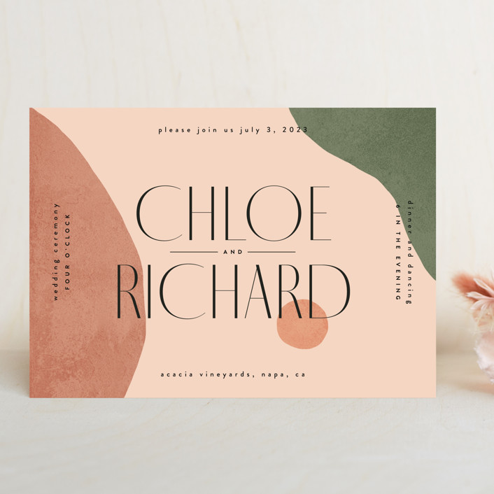 """""""Abstract"""" - Wedding Invitations in Desert by Kelly Schmidt."""