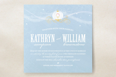 Cinderella Wedding Invitations by Jacqueline Dziad – Cinderella Wedding Invitation