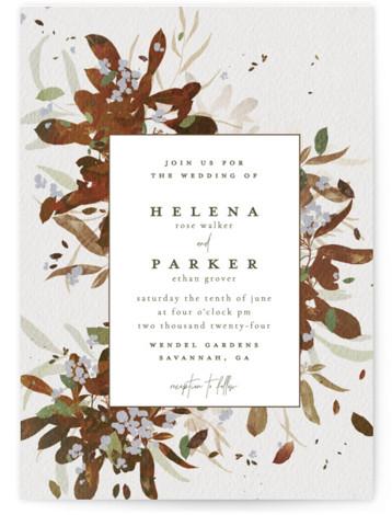 Fall Flurry Wedding Invitations