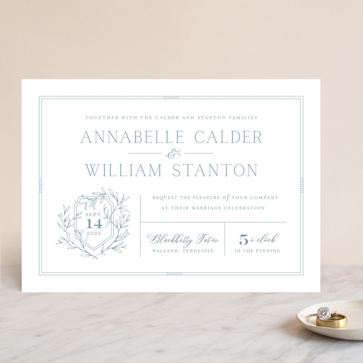 """Love Beyond Measure"" - Wedding Invitations in Mineral by Oscar & Emma."