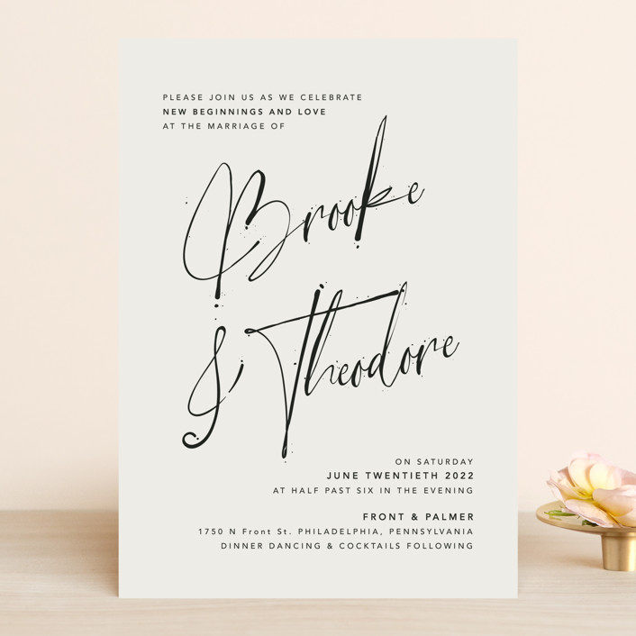 """""""Signature Style"""" - Wedding Invitations in Ink by Design Lotus."""