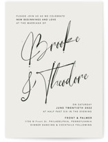 This is a black and white wedding invitation by Design Lotus called Signature Style with standard printing on signature in standard.