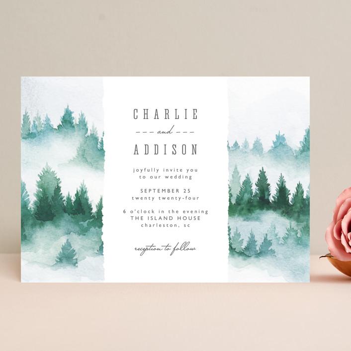 """Forest air"" - Rustic Wedding Invitations in Forest by Yuliya Evseeva."
