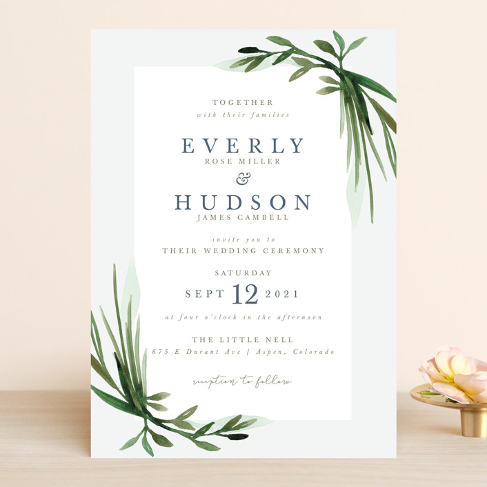 Botanical Frame Wedding Invitations by Kate Ahn | Minted