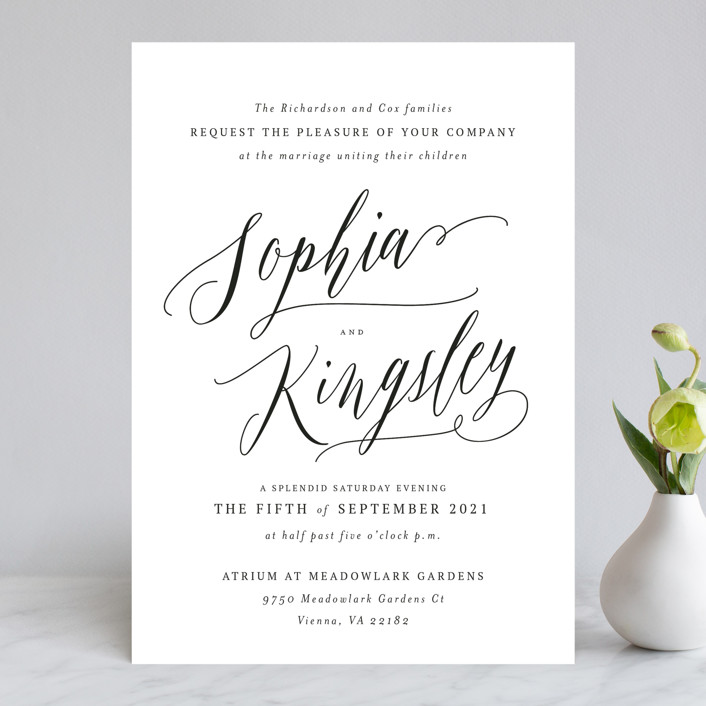 """Nothing Compares To You"" - Wedding Invitations in Cream by Design Lotus."