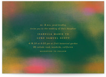 This is a green wedding invitation by Simona Camp called Forest Love with standard printing on signature in standard.