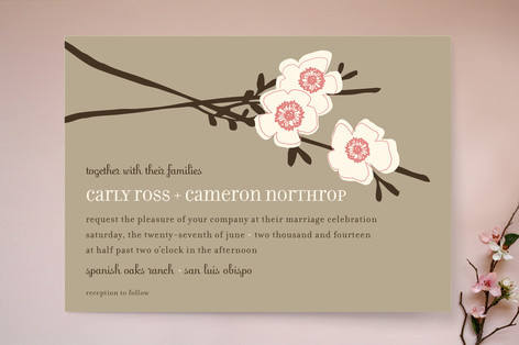 Apple Blossom Wedding Invitations