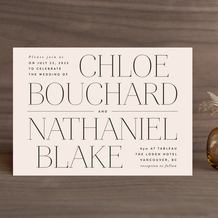"""""""Landscape"""" - Wedding Invitations in Champagne by Kelly Schmidt."""