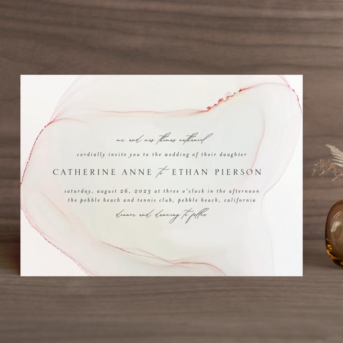 """cultured pearl"" - Wedding Invitations in Pearl by Erin Deegan."