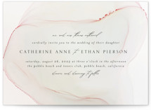 This is a white wedding invitation by Erin Deegan called cultured pearl with standard printing on signature in standard.