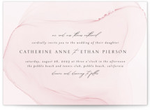 This is a pink wedding invitation by Erin Deegan called cultured pearl with standard printing on signature in standard.
