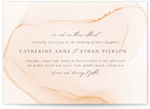 This is a orange wedding invitation by Erin Deegan called cultured pearl with standard printing on signature in standard.