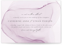This is a purple wedding invitation by Erin Deegan called cultured pearl with standard printing on signature in standard.