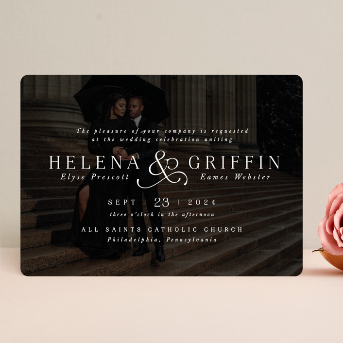 """""""And here we are"""" - Wedding Invitations in Marble by Lea Delaveris."""