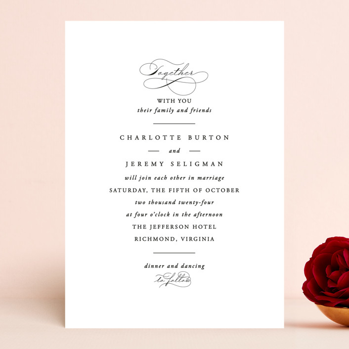 """""""Together With You"""" - Wedding Invitations in Noir by Kimberly FitzSimons."""