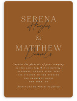 This is a brown wedding invitation by Morgan Kendall called Modern Traditionalist with standard printing on signature in standard.