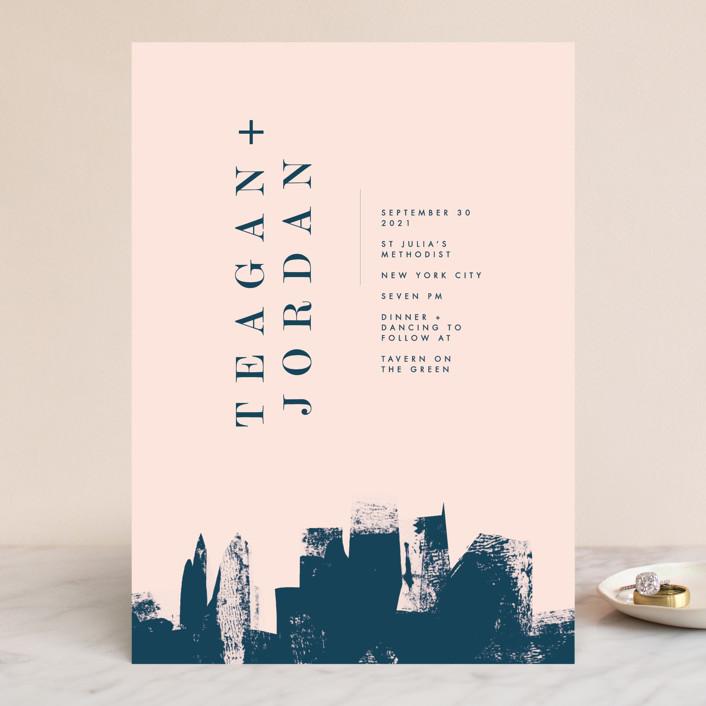 """""""Urban"""" - Wedding Invitations in Onyx by Lori Wemple."""