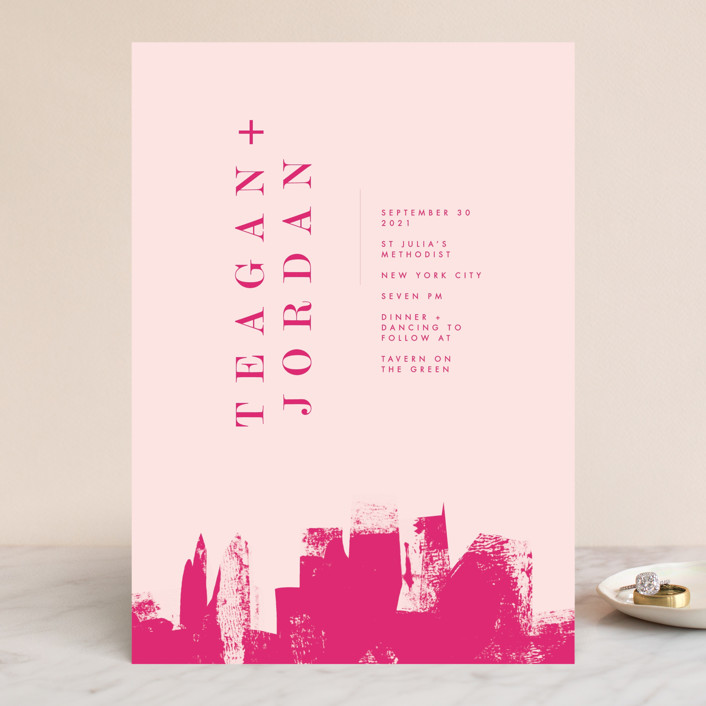 """Urban"" - Wedding Invitations in Onyx by Lori Wemple."