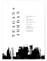 This is a black wedding invitation by Lori Wemple called Urban with standard printing on signature in standard.