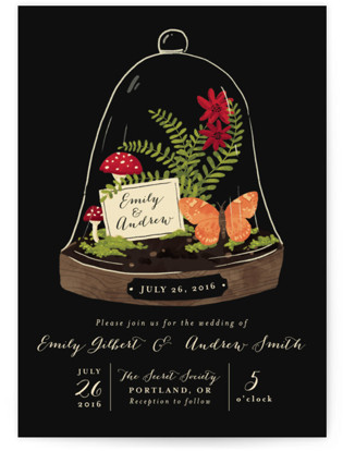 photo of Bell Jar Wedding Invitations