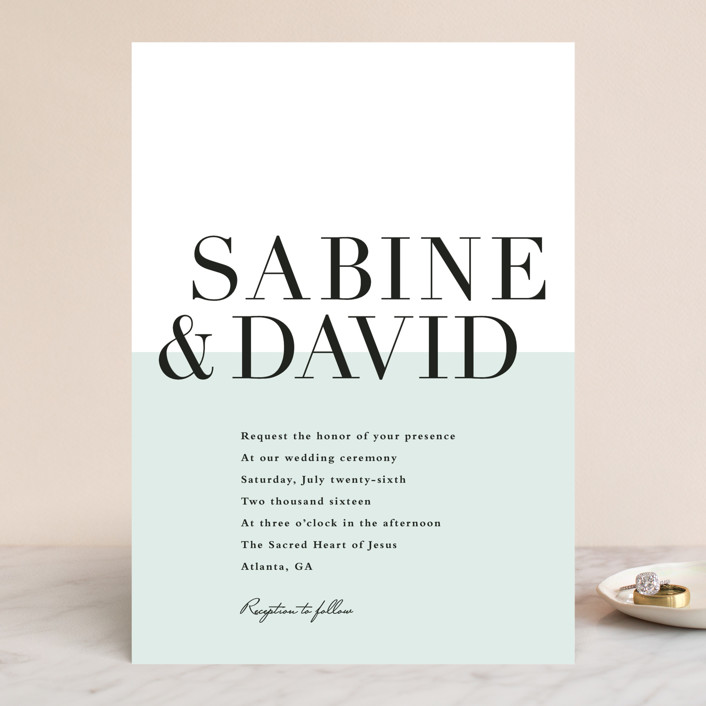 so fresh preppy modern wedding invitations in mint by stacey meacham - Minted Wedding Invites