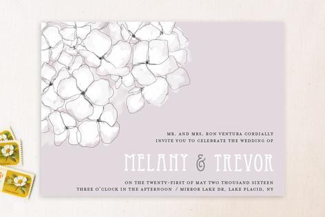 sweet hydrangea wedding invitations by r studio minted