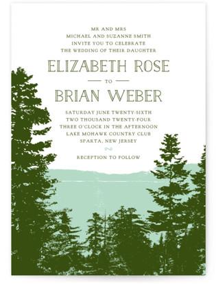 Mountain View Wedding Invitations