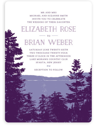 purple wedding invitations minted