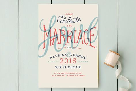 Celebration of Love Wedding Invitations