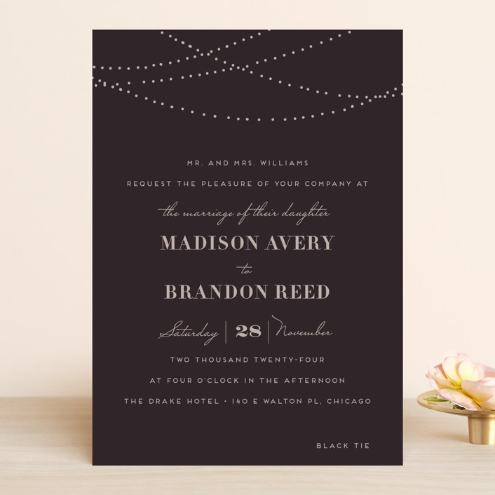 """Lavish"" - Rustic Wedding Invitations in Chalkboard by Design Lotus."