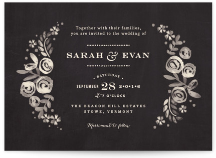 photo of Sun Bleached Florals Wedding Invitations
