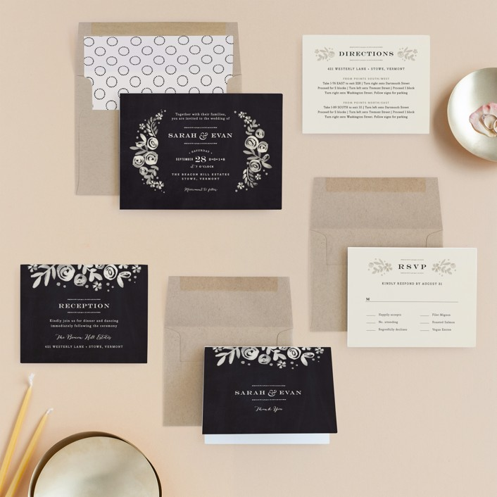 Sun Bleached Florals Wedding Invitations by Jennifer Wick | Minted