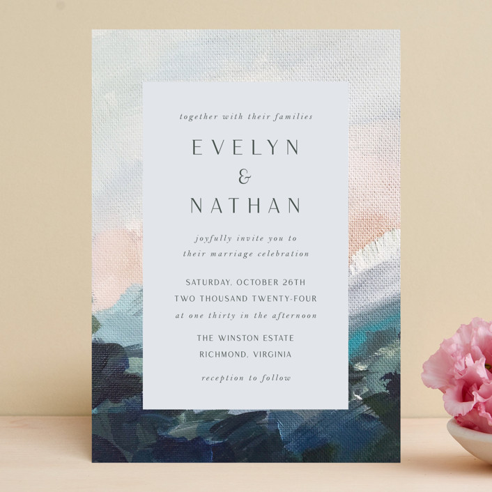 """Evelyn"" - Wedding Invitations in Capri by Nicole Walsh."
