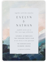 This is a blue wedding invitation by Nicole Walsh called Evelyn with standard printing on signature in standard.