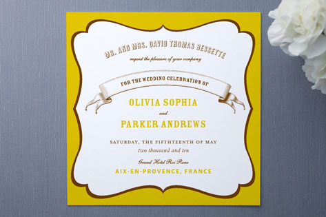 La Fete Wedding Invitations