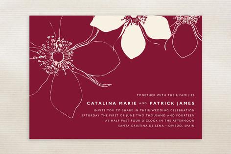 Modern Lotus Wedding Invitations