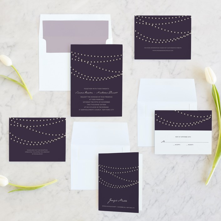 Midnight Vineyard Wedding Invitations by Design Lotus Minted