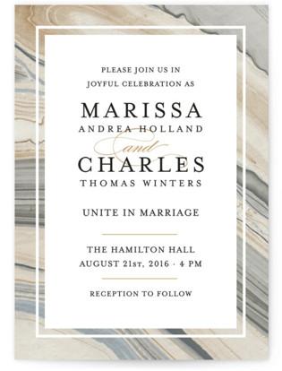 Elegant Marble Wedding Invitations