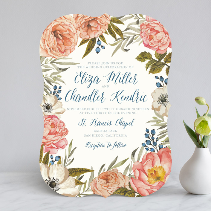 Marvelous Garden Rose Wedding Invitations By Wildfield Paper Co. | Minted