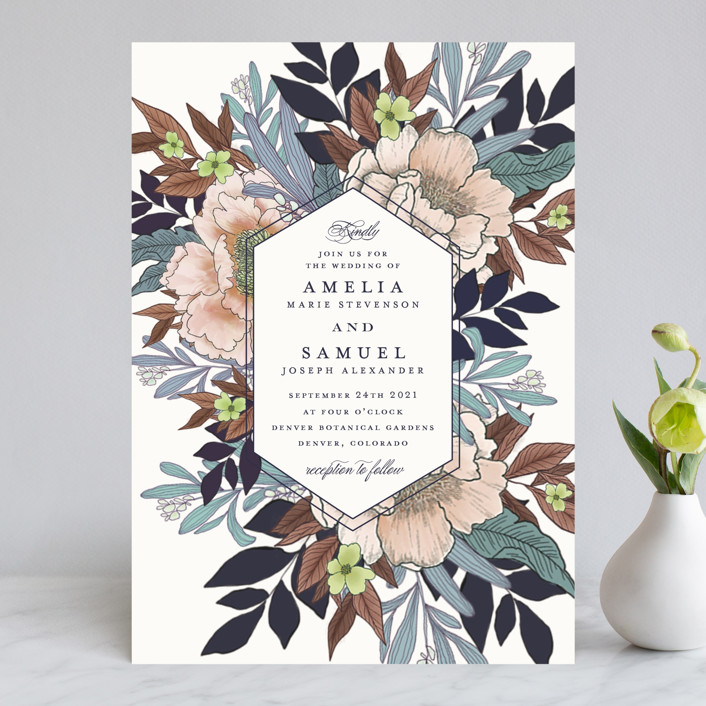vintage boughs wedding invitations by grace kreinbrink minted