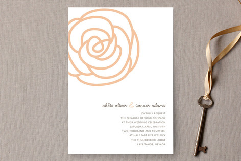 Bloom Wedding Invitations