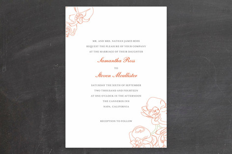 Beloved Orchid Wedding Invitations by SimpleTe Des Minted