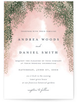 This is a green wedding invitation by Cassandra Imagines called veil sweet with standard printing on signature in standard.
